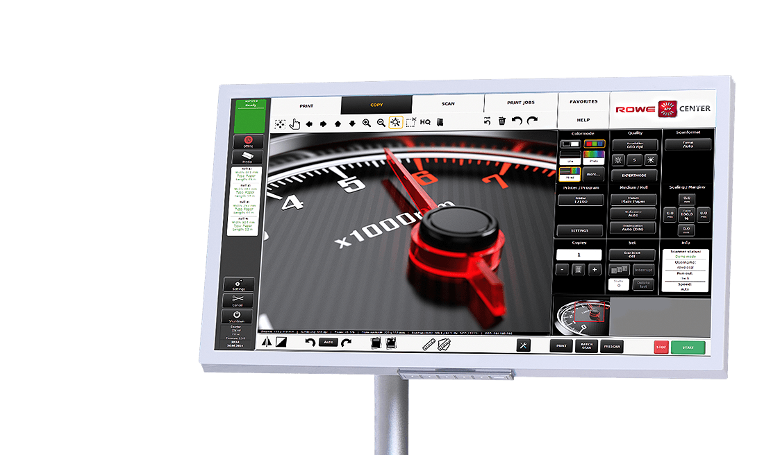 """ROWE FULL HD USER-INTERFACE with a 23"""" or 24"""" multifunctional touchscreen"""