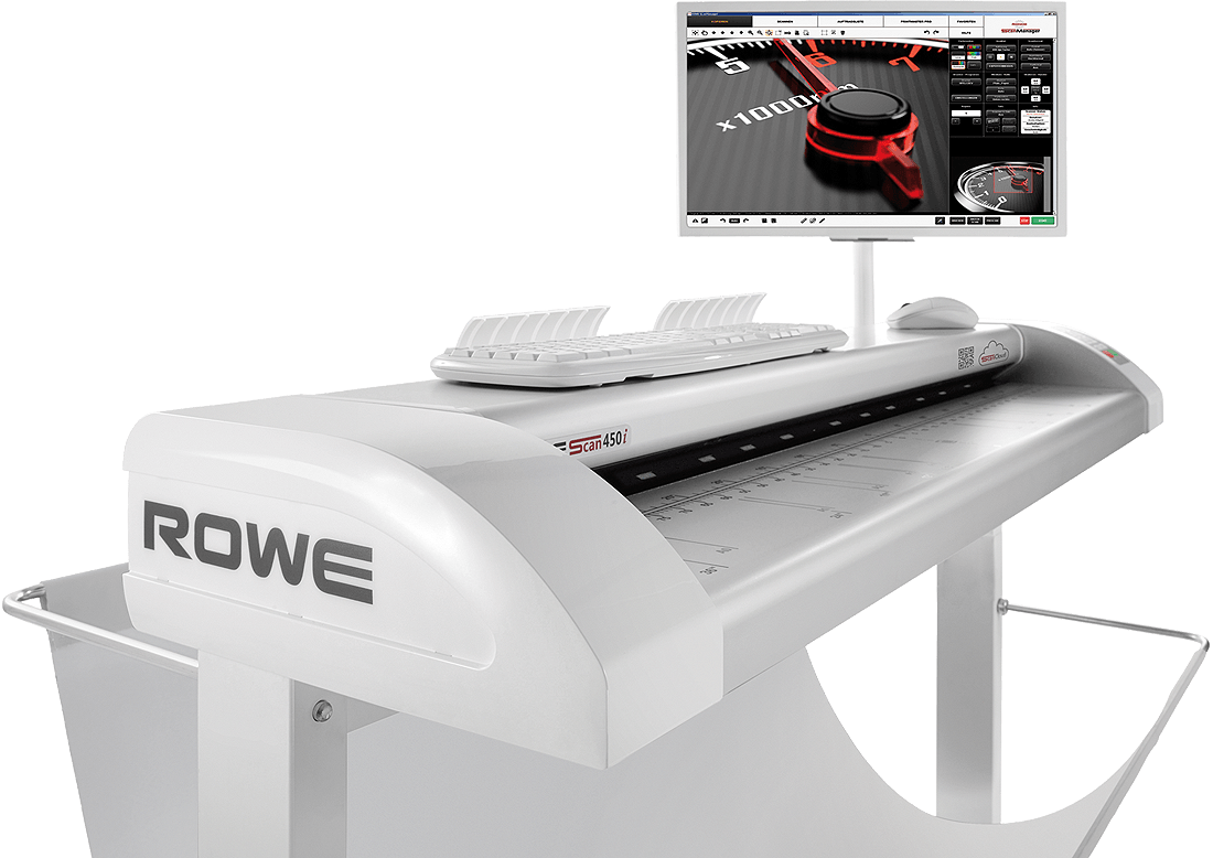ROWE Scan 450i ergonomics